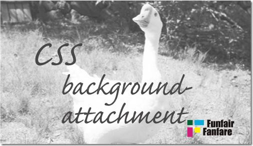 ホームページ制作 css background-attachment