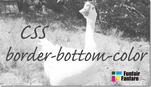 ホームページ制作css border-bottom-color
