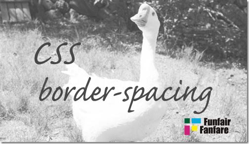 ホームページ制作 css border-spacing