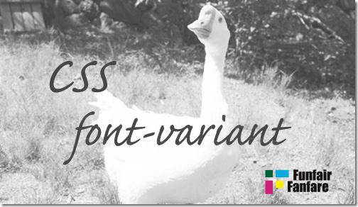 ホームページ制作 css font-variant