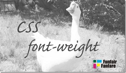ホームページ制作 css font-weight フォントウェイト
