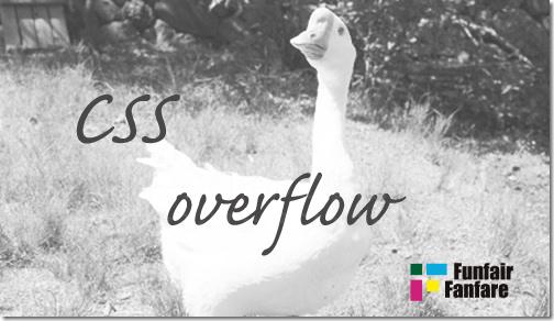 ホームページ制作 css overflow オーバーフロー