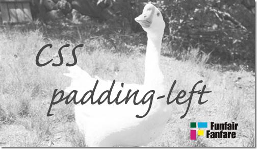ホームページ制作 css padding-left パディングレフト