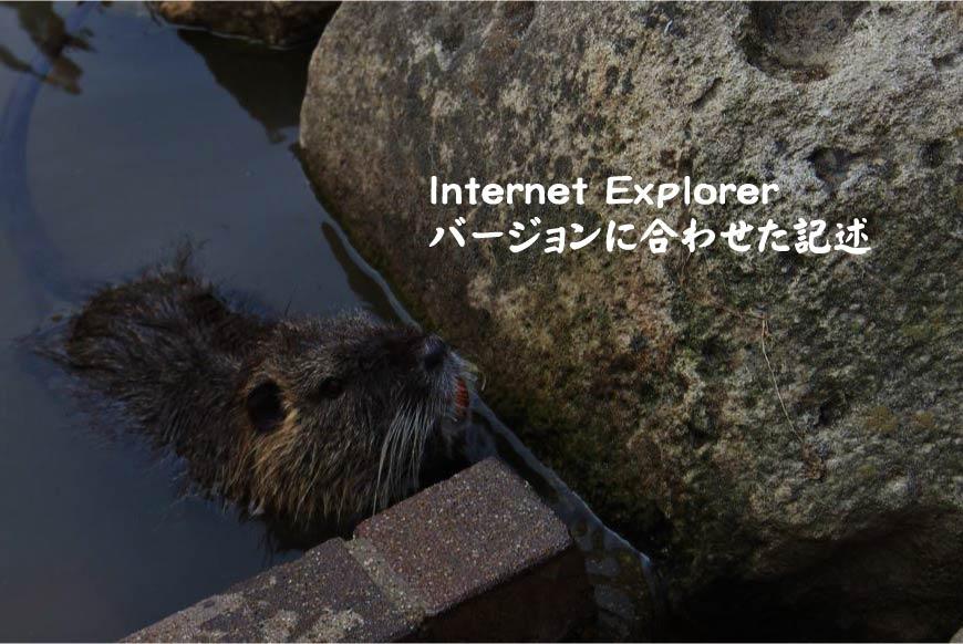 Internet Explorerバージョンに合わせた記述 ホームページ制作・Web制作