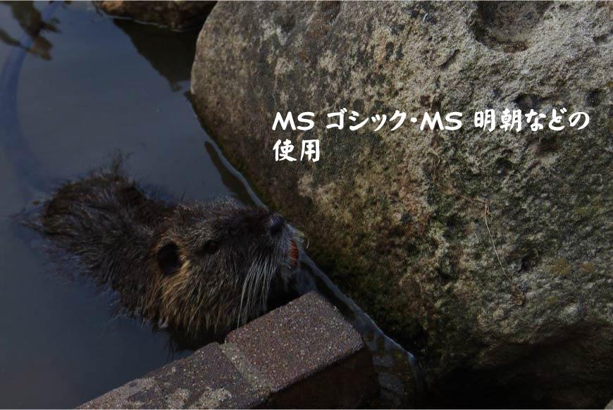MS ゴシック・MS 明朝などの使用 ホームページ制作・Web制作