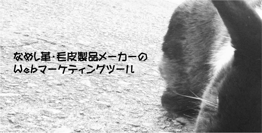 なめし革・毛皮製品メーカーのWebマーケティングツール