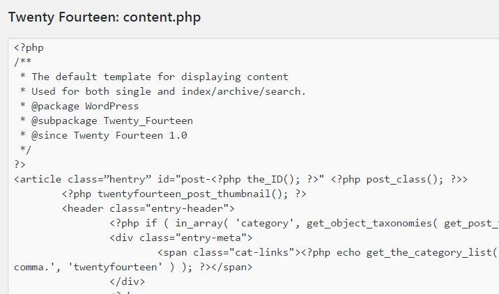 WordPressテーマのcontent.phpを編集してコンテンツ表示をカスタマイズする
