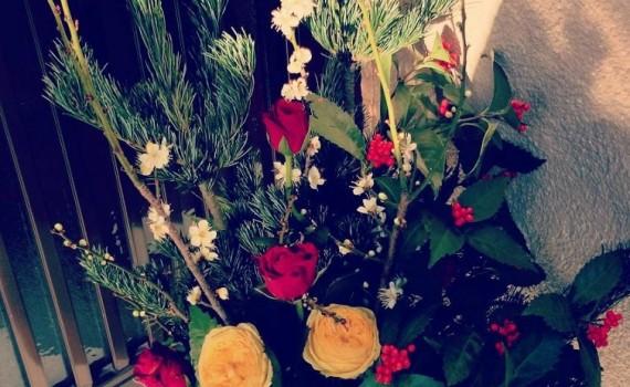お正月の生け花