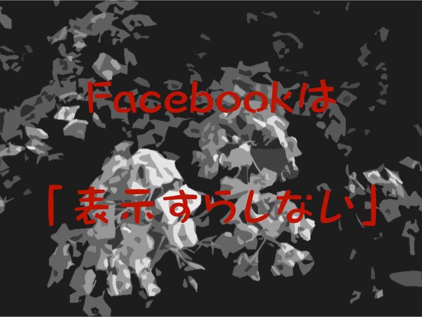 Facebookは、「表示すらしない」