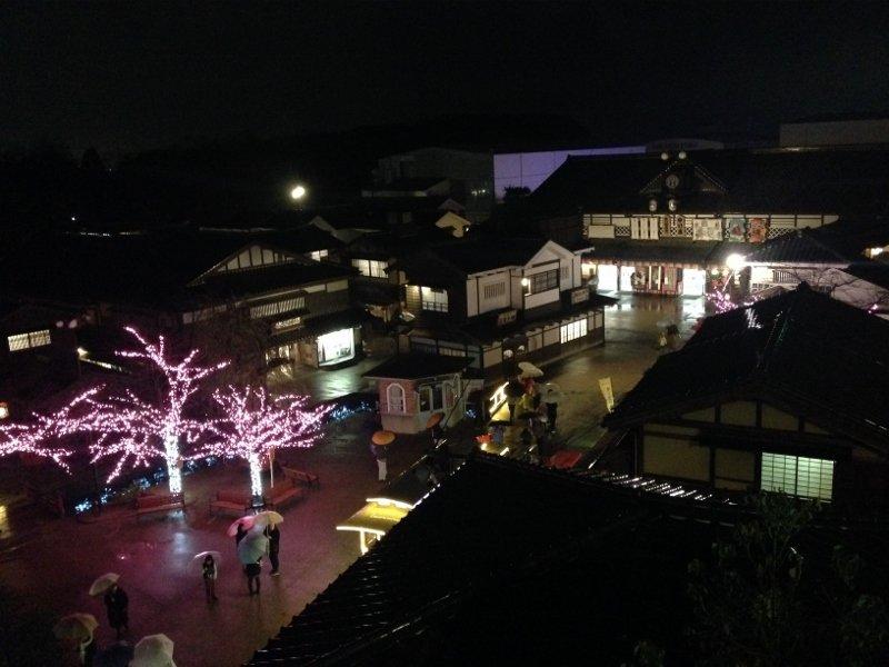 夜の太秦映画村 京都市右京区