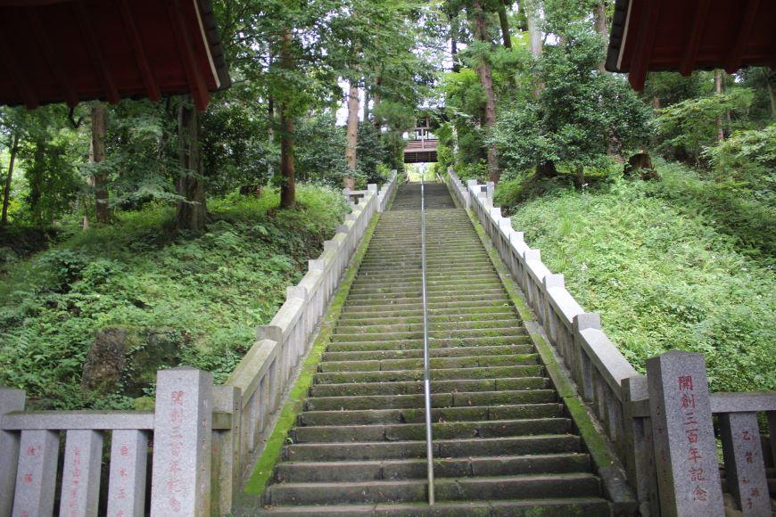 達磨寺(群馬県) 登り階段