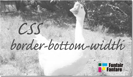ホームページ制作 css border-bottom-width