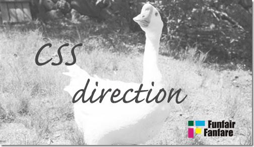 ホームページ制作 css direction