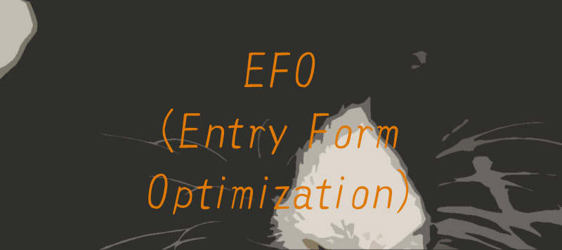 EFO(Entry Form Optimization)ホームページ制作