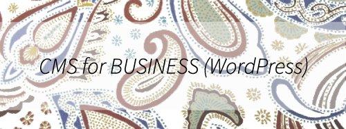 CMS for BUSINESS(WordPress)は、既存ウェブサイト・ホームページのWordPress化サービスのハイグレードプランです