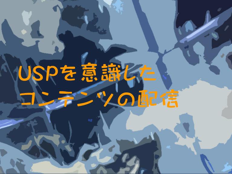USPを意識したコンテンツの配信