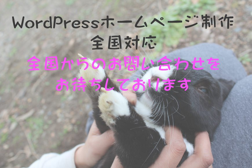 WordPress ホームページ制作 全国対応