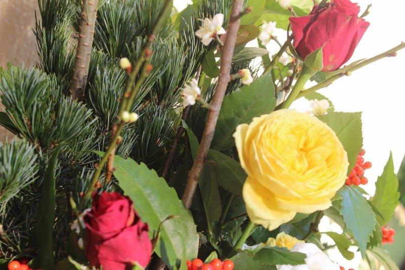 お正月の生け花 アップ