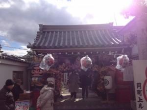 だるま寺の節分祭