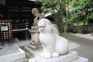 岡崎神社の狛兎岡崎神社 京都市左京区