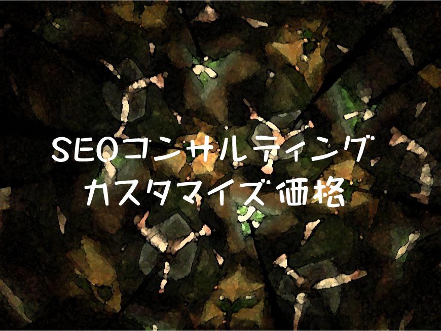 SEOコンサルティング・カスタマイズ価格 画像SEO