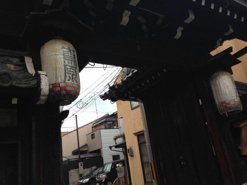 島原(島原大門)へ 京都市下京区
