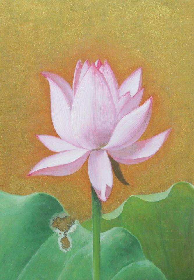 「蓮 文月」 SM キャンバスに油彩
