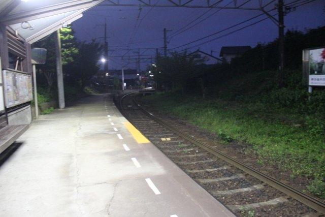 宇多野駅 構内