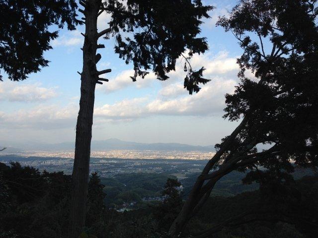 西山から見る京都市内