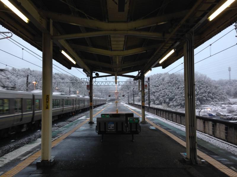 おごと温泉駅 積雪
