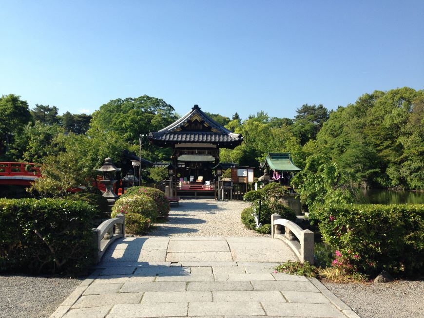 神泉苑を進む 京都市中京区
