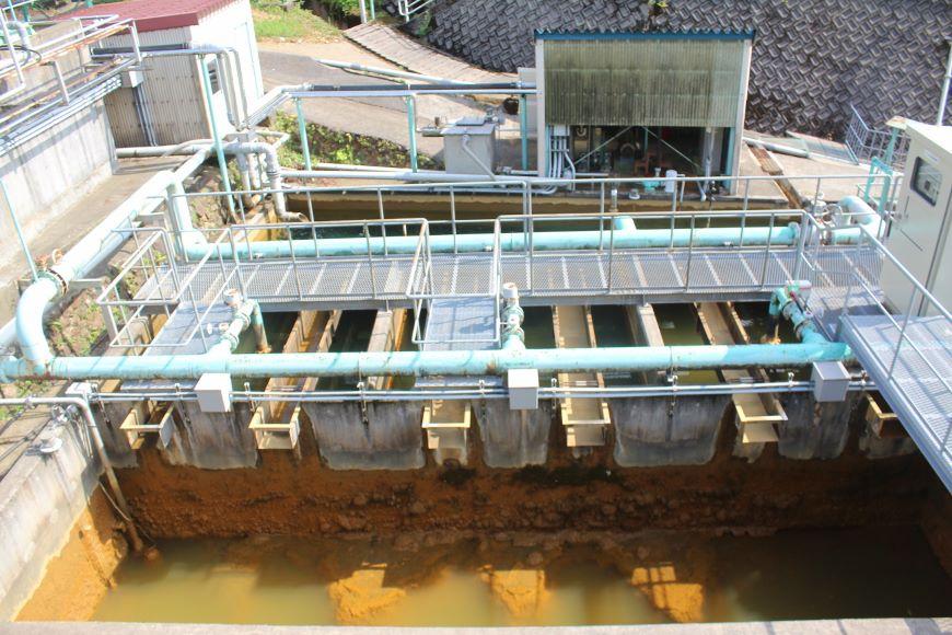 旧岩美鉱山坑廃水処理 沈殿分離